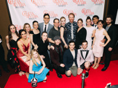 The ensemble of Carousel joins choreographer Justin Peck for a group shot.