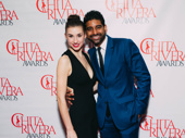 Carousel Outstanding Male Dancer nominee Amar Ramasar joins Alexa Maxwell on the red carpet.