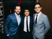 Chita winner Frankenstein's Robbie Fairchild  gets together with  Carousel dancer and nominee Andrei Chagas and  choreographer and nominee Justin Peck.