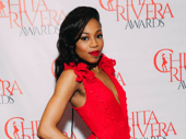 Once on This Island star and Outstanding Female Dancer nominee Hailey Kilgore stuns in red.
