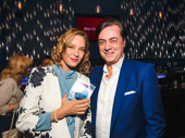 Favorite Leading Actress in a Play winer Uma Thurman and the John Gore Organization Chairman and CEO John Gore enjoy the event.