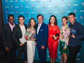 And eight awards for the Mean Girls cast, bye! Stars Rick Younger, Kyle Selig, Erika Henningsen, Barrett Wilbert Weed, Taylor Louderman and Grey Henson pose with John Gore Organization Chairman and CEO John Gore.