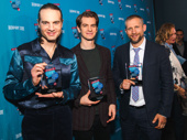 Andrew Garfield was joined by Angels in America producer Jordan Roth and National Theater producer Tim Levy.