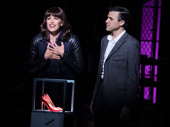 Caroline Bowman as Nicola and Tyler Glenn as Charlie in Kinky Boots.