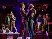 Zachary Quinto as Harold and Charlie Carver as Cowboy in The Boys in the Band.
