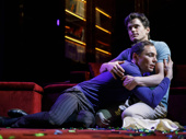 Jim Parsons as Michael and Matt Bomer as Donald in The Boys in the Band.