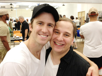 Check Out The Book of Mormon Tour Stars Gavin Creel and Jared Gertner in Rehearsal
