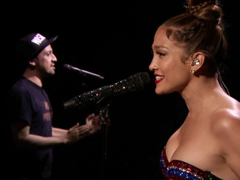 Watch Lin-Manuel Miranda Give Us Major Post-Hamilton Feels & Perform 'Love Make the World Go Round' with J.Lo!