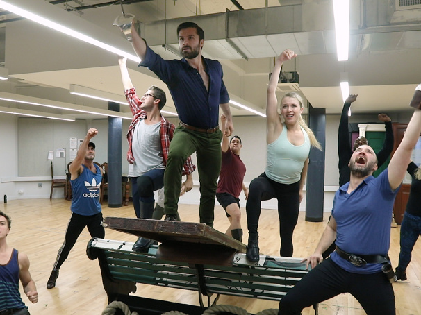 Watch Jeff Sullivan, Ruby Gibbs & the Cast of the Finding Neverland Tour Make Believe in Rehearsal