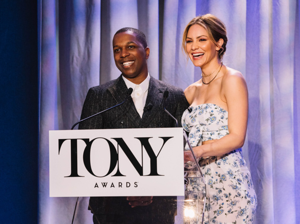 A Quick Chat with Smash Vets Leslie Odom Jr. & Katharine McPhee After They Announced the 2018 Tony Noms