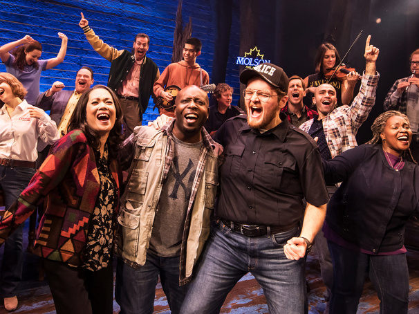 The North American touring company of Come From Away, photo by Matthew Murphy
