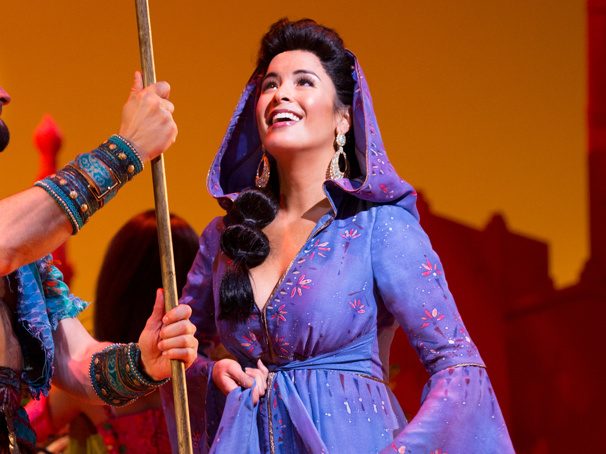 Courtney Reed and Brandt Martinez in Aladdin