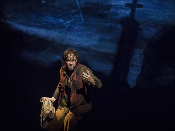 Nick Cartell as Jean Valjean in Les Miserables