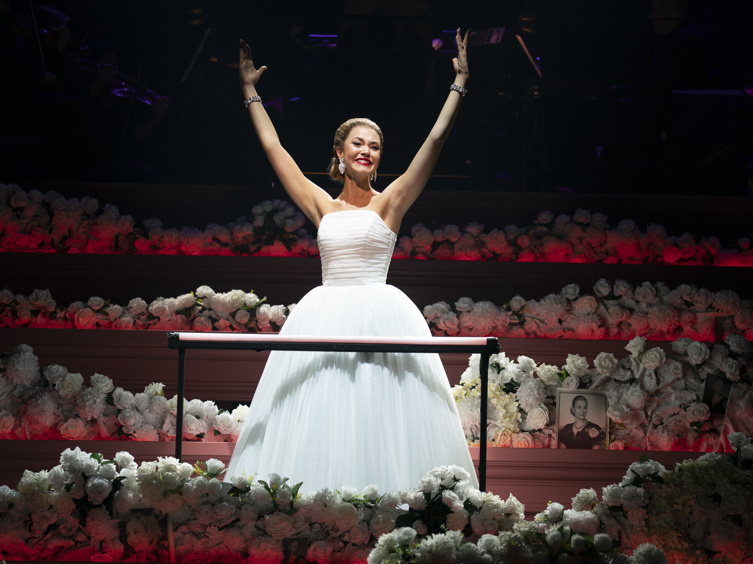 Watch Clips & See Photos from City Center's Rainbow High Production of Evita, Starring Solea Pfeiffer & Maia Reficco