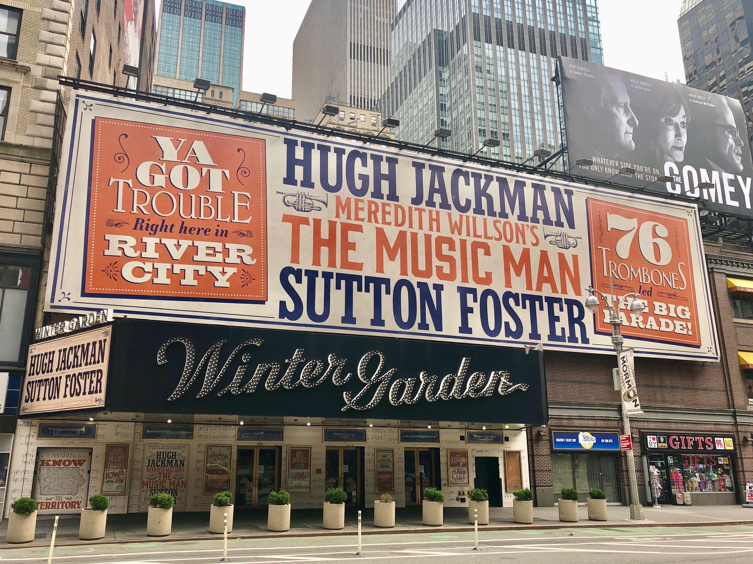 A Broadway Treat with a Capital 'T'! The Music Man Marquee Is Up at the Winter Garden Theatre