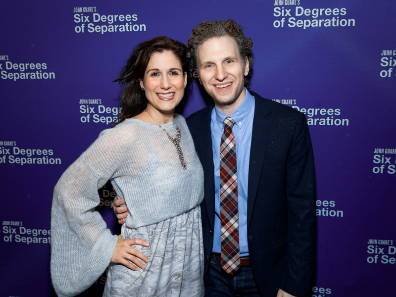 Tony Nominee Stephanie J Block And Her Husband Sebastian Arcelus Spend Date Night At The Broadway Opening Of Six Degrees Of Separation
