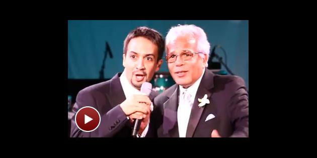 Lin Manuel Miranda Wedding.L Chaim In The Heights Lin Manuel Miranda Toasts His Bride On