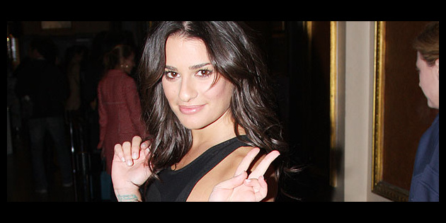 Glee diva lea michele rocks out at rock of ages broadway buzz - Lea michele diva ...
