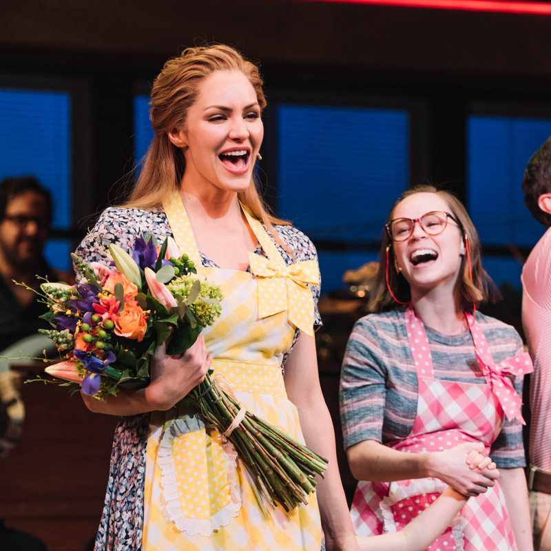 Waitress Welcomes Back Katharine Mcphee For A Final Shift As Jenna Broadway Buzz Broadway Com