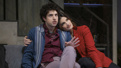 Eli Gelb as Benjamin and Idina Menzel as Jodi in Skintight.