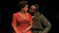 Anika Noni Rose as Carmen Jones and Tramell Tillman as Sergeant Brown in Carmen Jones.