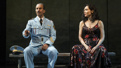 Sasson Gabay as Tewfiq and Katrina Lenk as Dina in The Band's Visit.