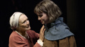 Glenn Close as Isabelle Arc and Grace Van Patten as Joan Arc in Mother of the Maid.