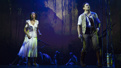Christiani Pitts as Ann Darrow, Eric William Morris as Carl Denham and the cast of King Kong.