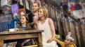 Willow McCarthy as Mercy Carney, Brooklyn Shuck as Nunu Carney, Genevieve O'Reilly as Mary Carney and Matilda Lawler as Honor Carney in The Ferryman.