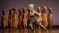Adrienne Walker as Nala and the cast of The Lion King.