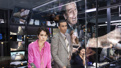 Tatiana Maslany as Diana Christensen, Julian Elijah Martinez as Harry Hunter and  the cast of Network.