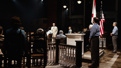 Jeff Daniels as Atticus Finch and the cast of To Kill a Mockingbird.