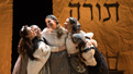 Raquel Nobile as Shprintze, Rosie Jo Neddy as Khave, Rachel Zatcoff as Tzeitel, Stephanie Lynne Mason as Hodl and Samantha Hahn as Beylke in Fiddler on the Roof.