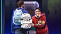 Will Roland as Jeremy and George Salazar as Michael in Be More Chill.