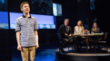 Andrew Barth Feldman as Evan and the cast of Dear Evan Hansen.