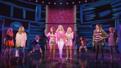 Krystina Alabado as Gretchen, Taylor Louderman as Regina and Kate Rockwell as Karen in Mean Girls.