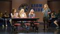 Krystina Alabado as Gretchen, Taylor Louderman as Regina, Kate Rockwell as Karen and Erika Henningsen as Cady in Mean Girls.