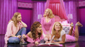 Erika Henningsen as Cady, Krystina Alabado as Gretchen, Taylor Louderman as Regina and Kate Rockwell as Karen in Mean Girls.
