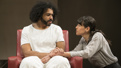 Daveed Diggs as Leo and Zoe Winters as Dawn in White Noise.