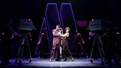 Jeremy Pope as Eddie Kendricks and Candice Marie Woods as Diana Ross in Ain't Too Proud.
