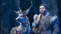 Adam Jepsen as Sven and Noah J. Ricketts as Kristoff in Frozen.
