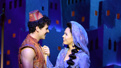 Ainsley Melham as Aladdin and Arielle Jacobs as Jasmine in Aladdin.