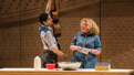 Damon Daunno as Curly and Mary Testa as Aunt Eller in Oklahoma!