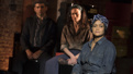 Tony Yazbeck as Larry Foreman, Lara Pulver as Moll and Rema Webb as Ella in The Cradle Will Rock.