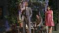 Hampton Fluker as George Deever, Benjamin Walker as Chris Keller and Francesca Carapini as Ann Deever in All My Sons.