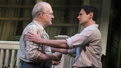 Tracy Letts as Joe Keller and Benjamin Walker as Chris Keller in All My Sons.