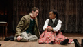 Nate Mann as Laurie and Kristolyn Lloyd as Jo in Little Women.