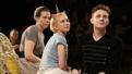 Rebecca Henderson as Olga, Tavi Gevinson as Irina and Chris Perfetti as Masha in Moscow, Moscow, Moscow, Moscow, Moscow, Moscow.