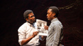 James Udom as Joe and Ato Blankson-Wood as Dembe in The Rolling Stone.