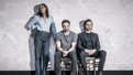 Zawe Ashton as Emma, Charlie Cox as Jerry and Tom Hiddleston as Robert in Betrayal.
